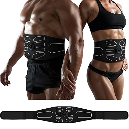 MarCoolTrip MZ Abs Toning Belt, Muscle Toner, Abdominal Toning Belt Workout Portable Fitness Workout Equipment Home Office for Men Women 2