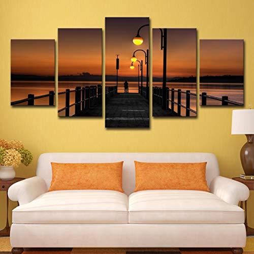 La pared del fondo de la sala de estar la sala de la pared del fondo de la sala de estar cinco luces de calle del pontón de la tarde, M: 10X15-2P10X20-2P10X25-1P,
