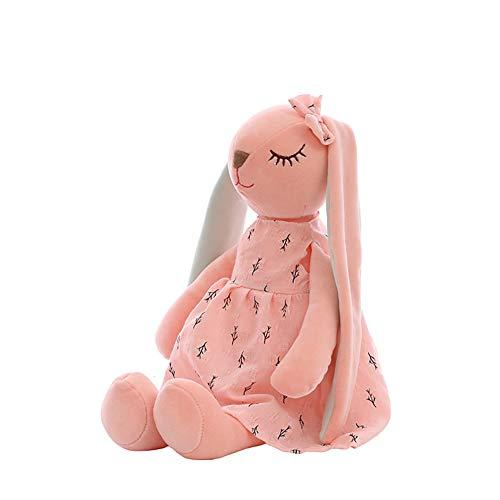 Metermall Hot Pluche Pop Lang Oor Konijn Vorm Speelgoed Sierkussen voor Kinderen Vriendin Slapen Home Decor Roze 35cm 0.13kg