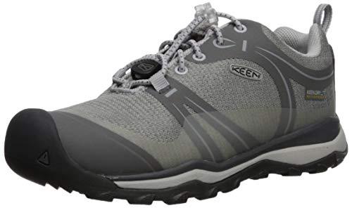 KEEN Unisex Terradora Low WP Hiking Shoe, Gargoyle/Magnet, 3 M US Big Kid