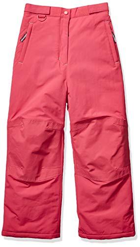 Amazon Essentials Girls' Big Water-Resistant Snow Pant, Raspberry Pink, Large