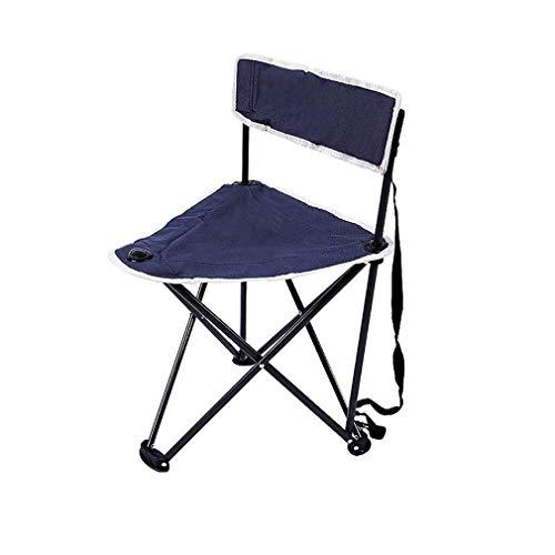 QQXX AGLZWY klapstoel, voor camping, veelzijdig inzetbaar, metaal, Oxford-stof, slijtvast, draagbaar, licht, antislip, buiten, tuin, blauw (kleur: blauw, maat: 48 x 48 x 74 cm) AGLZWX5524r-1 Aglzwx5524r-1
