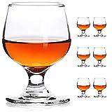 JAIEF - Set di 6 bicchierini da shot da 60 ml, senza piombo, in vetro trasparente, base pesante