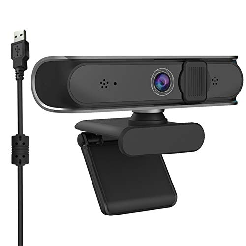 YZQ Webcam , Dual Microphone & Privacy Cover, 2021 HD USB Computer Web Camera, Gaming Zoom Meeting Teams