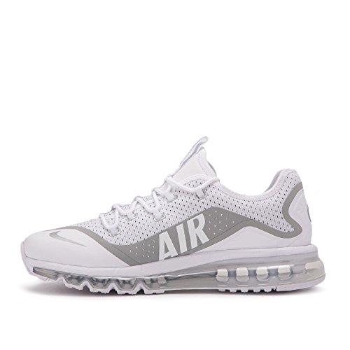 Nike Air MAX More, Entrenadores Hombre, Blanco (White/Metallic Silver/Black), 45.5 EU