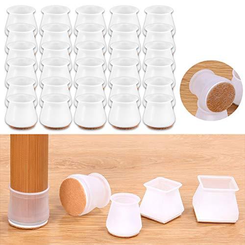 32 pezzi di mobili di protezione in silicone per protezioni antigraffio per sedie e tavoli, tappi per gambe di sedie, piedini per gambe in silicone (Stile B-2)