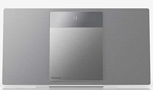 Panasonic SC-HC410EG-S- Microcadena para Hogar (40 W, Space Tune By Technics, Bluetooth, USB Dual, FM, AUX 3.5 mm, Instalable en Pared, Elegante y Minimalista, Sonido Envolvente) Color Gris