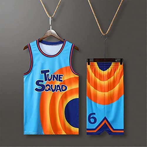 GFDDZ Camisetas de Baloncesto para Hombre 6# Camisetas sin Mangas Camiseta sin Mangas + Pantalones Cortos Trajes de Entrenamiento Transpirables de Secado rápido