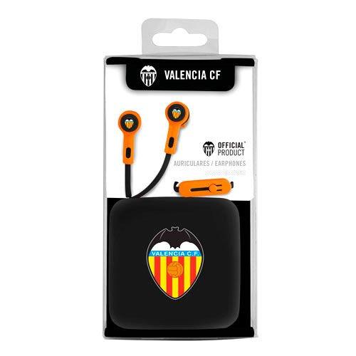 Auriculares Botón Stereo Jack 3.5 mm Licencia Fútbol Valencia CF Marca VALENCIA CF