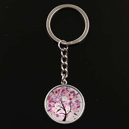 PEIPONG Cabochon Keychain Silver Color Keyring Key Chain Gift Key Holder