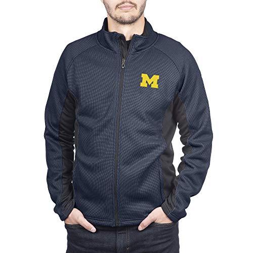 Spyder Herren Gameday Jacke Constant Full Zip Sweater, Herren, Constant Full Zip Sweater Gameday Jacket, Michigan Wolverines Navy, XX-Large