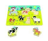 Andreu Toys 16483 Chunky Puzzle - Granja - 7 Piezas, Multicolor, 30 x 22,5 x 2 cm