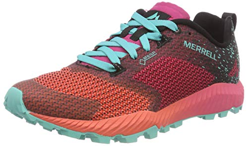 Merrell Damen All Out Crush 2 GTX Traillaufschuhe, Rot (Azalea/Turquoise), 37 EU