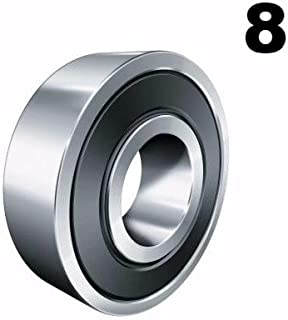 Eight (8) 608-2RS 8x22x7 Precision Double Shielded Greased Ball Bearings 608 RS
