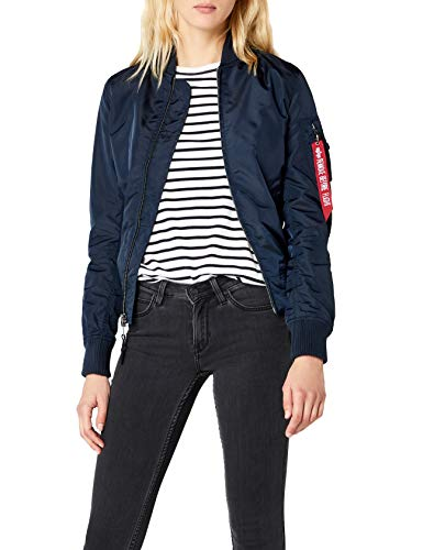 Alpha Industries Damen Ma-1 TT Jacke, Blau (Rep.Blue 07), X-Small
