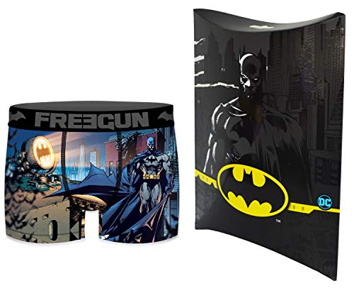 DC_COMICS Heren Boxershorts met geschenkzakje, officiële collectie Freegun