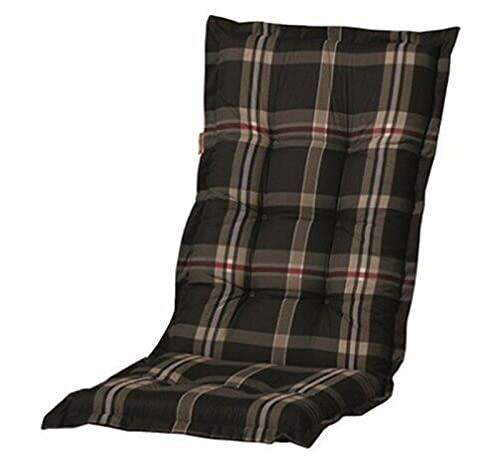 Gartenmöbel Hochlehner Sessel Auflagen Polster Kissen 8 cm Gartenstuhl Grau
