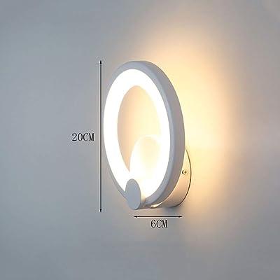 Anneau circulaire LED Applique murale moderne pour chambre à coucher Lanterne murale Créativité Couloir acrylique Allée Escalier Projecteurs muraux Applique murale Mode Aluminium Tête de lit de café