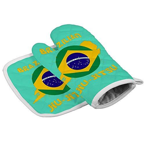 Guanti da forno e presine per jiu jitsu brasiliani del giorno di San Patrizio Set guanti da forno resistenti al calore con superficie antiscivolo per la cottura al forno Cottura alla griglia barbecue