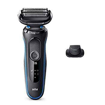 Braun Electric Razor for Men Series 5 5018s Electric Foil Shaver with Precision Beard Trimmer Rechargeable Wet & Dry with EasyClean