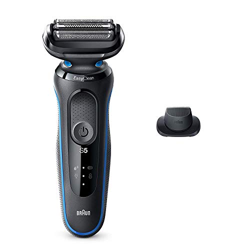Braun Electric Razor for Men, Series 5 5018s Electric Shaver with Precision Trimmer, Rechargeable, Wet & Dry Foil Shaver with EasyClean
