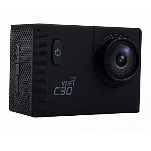 RJJG Mini cámara CAM Bicicleta al Aire Libre Impermeable del Deporte Dv C30 / C30R acción de la cámara 20MP WiFi 4K Ultra HD 1080P / 60 FPS Go l11.10A (Bundle : Bundle6, Color : C30 Black)