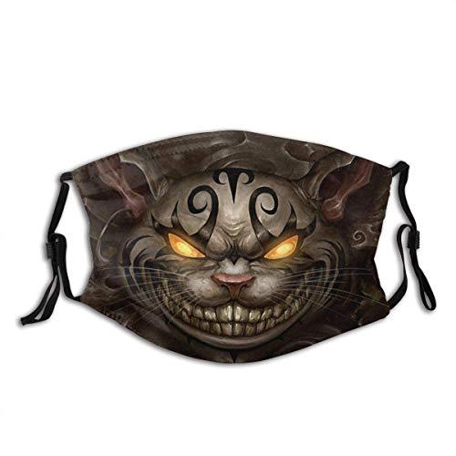 Promini Alice Madness Returns Grinsekatze Lächelndes Bild Augen grauer Hintergrund, Sturmhaube, Unisex, wiederverwendbar, Windp