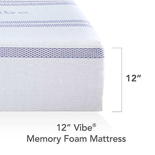 Vibe Gel Memory Foam 12-Inch Mattress | CertiPUR-US Certified | Bed-in-a-Box, Full