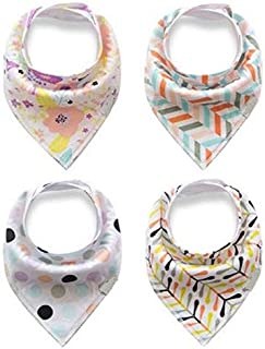 Cotton bibs baby scarf 360 degrees lot of 4 pieces