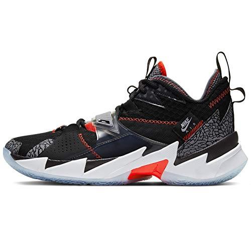 Nike Why Not Zer0.3 Herren Basketballschuhe Cd3003-006, Schwarz (Black/Bright Crimson-cement Grey-white), 42.5 EU