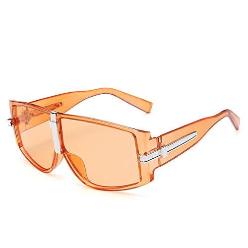 Astemdhj Gafas de Sol Sunglasses Gafas De Sol Cuadradas De Gran Tamaño para Mujer, Gafas De Marca De Lujo para Hombre, Gafas Transparentes Vintage para Mujer, Retro Uv400 C2, NaraAnti-UV