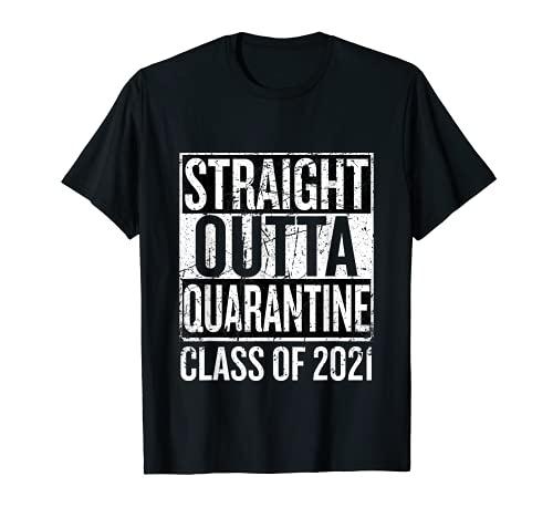 Vintage Straight Outta Quarantine Class of 2021 Senior 21 T-Shirt