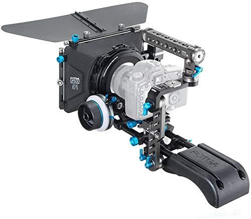 Fotga DP500III 15mm Standard Rail Rod Filmmaking System Quick Release Set Up Camera Cage Bracket Follow Focus Matte Box DSLR Rig for DSLR Cinema Video Cameras