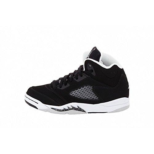 - basket Retro Air 5PS niño blanco rojo 440889120, Negro (negro), 28