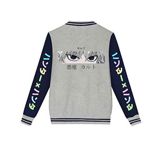 Einson Japanese anime Hunter X Hunter Baseball Jacket Killua Zoldyck Hisoka cosplay Jacket mens tracksuit plus size Coat boys clothes