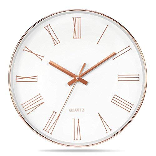 12 Inch Modern Wall Clock, Silent Non-Ticking Quartz...