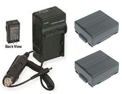2, Hitachi DZ-BP07, Hitachi DZ-BP07PW Batteries + Charger for Hitachi DZ-BD70, Hitachi DZ-BD7, Hitachi DZ-BD10, Hitachi DZ-BP7