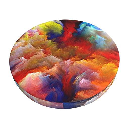 Fodera Per Cuscino Per Sedia Da Bar Rotondo Fodera Per Sgabello Da Bar Rotondo Con Motivo Colorato E Cuscino Per Sedia Rotondo In Tessuto Elastico