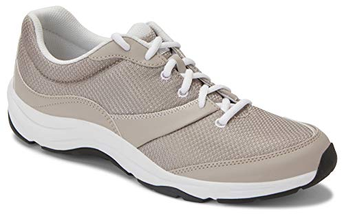 Vionic Women's Action Kona Lace-up Walking Fitness Shoes - Ladies Sneakers with Concealed Orthotic Arch Support Grey Multi 9.5 Medium US