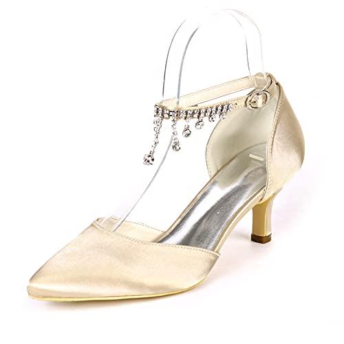 Zapatos De Novia para Mujer Sandalias De Punta Puntiaguda Sexy Diamante De...
