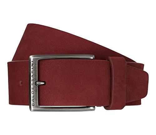Baldessarini Gürtel Ledergürtel Herrengürtel Veloursleder Ferrari Rot 6485, Länge:105, Farbe:Rot