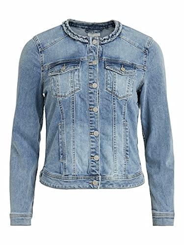 Vila Female Jeansjacke Regular Fit 44Light Blue Denim