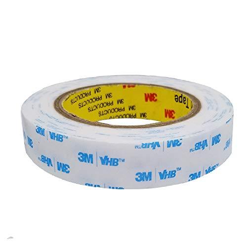 SANKA 3M VHB Cinta Adhesiva Doble Cara ExtraFuerte, Adhesivo de Montaje Resistencia al Agua y a Altas Temperaturas(Blanca, 2cm x 4,7m)