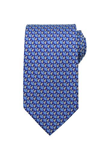 Salvatore Ferragamo Herren Krawatte Blau blau Einheitsgröße