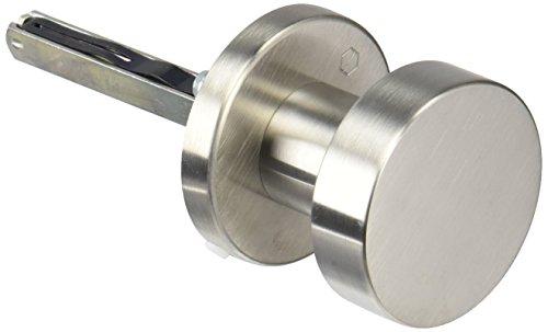 HOPPE Tür-Knauf auf Runder Rosette | Zylinderform | Edelstahl matt | Fix-Knopf | 1 Stück