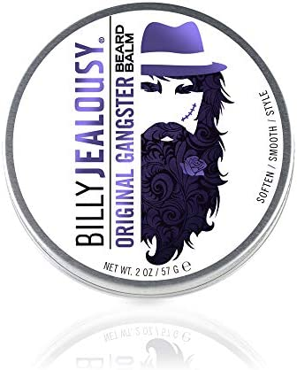 Billy Jealousy Original Gangster Light Hold Oud Wood Scented Beard and Mustache Balm 2 oz product image