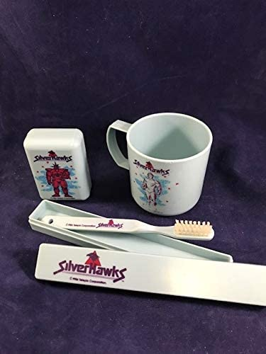 San Jose Mall Silverhawks Toys 1986 Max 65% OFF Bathroom Set Travel Toothbrush Se Soap Cup