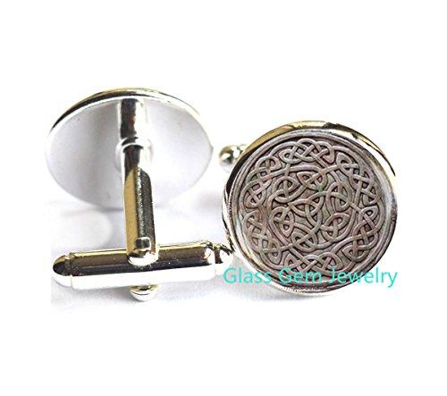 Celtic knot Cufflinks , Viking Rune Cuff links, Irish Jewelry, Celtic Cufflinks , Occult Jewelry, men's Cufflinks,Q008