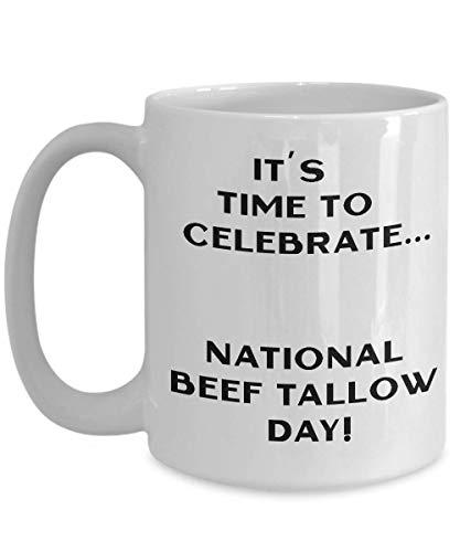 Novedades del Día nacional de sebo de carne de res tazas de...