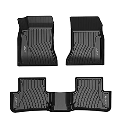 LASFIT Floor Mats Custom Fit for 2014-2019 Mercedes Benz CLA 180 200 250 45 AMG, All Weather Guard TPE Floor Liners, Front & Rear Rows, Black